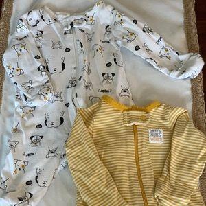 baby sleepers bundle, gender neutral